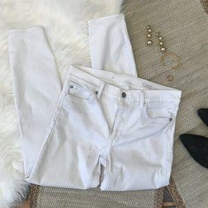 Gap 1969 White Denim jeans Skinny Size 27